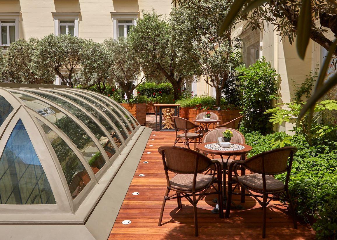 The Atrium Alexanders Lounge Hotel Grande Bretagne Athens